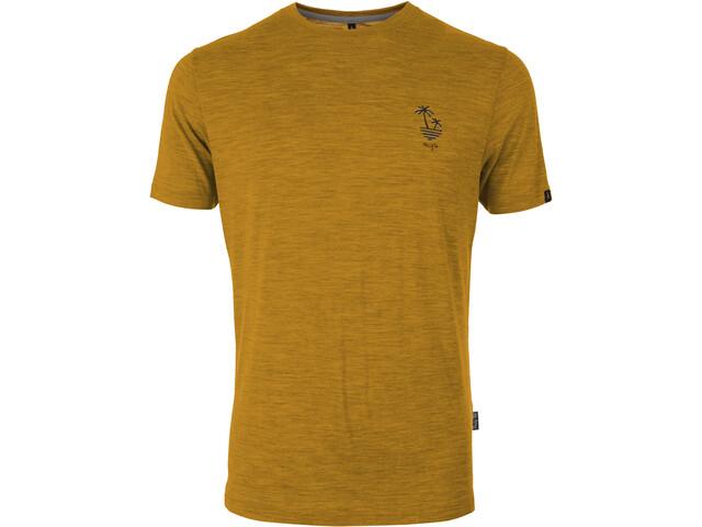 Pally'Hi Dizzy Palms Koszulka Mężczyźni, heather sundance